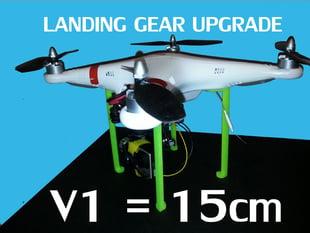 V1 DJI Phantom Landing Gear Legs Upgrade Mod Modification 3D Printable FPV UAV