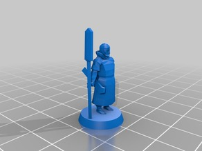 Moscow warrior with polearm 18mm