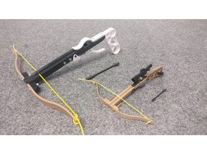 Crossbow Western style (splitted body for larger scale)