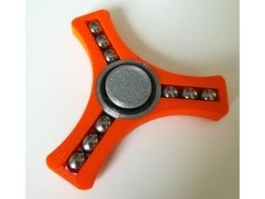 Fidget Spinner with 9x 8mm steel balls