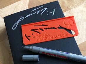 Prusa Personaliser | Josef Prusa Signature Jig