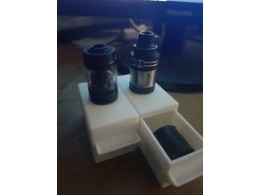 Atomizer / Vape stand with drawer for spare parts