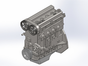 Ford Zetec Engine Scale Model