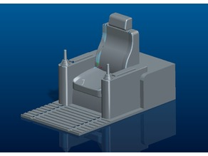 RC construction machine seat