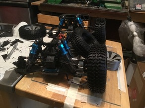 modified wheel with flex tire for 1/10 rc