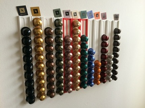 Nespresso capsule wall holder light