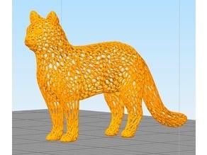 Cat - Voronoi style