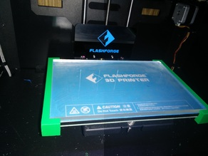 Locking glass bed braces - FlashFarge Creator Pro