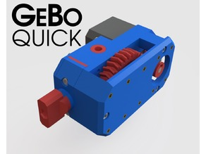 GeBO-Quick - Geared Bowden Extruder with Quick-Release