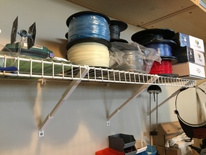 """Wall Mounting Hardware for 12"""" Depth Wire Shelving"""