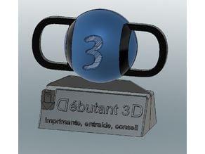 LOGO Débutant 3D - D3D - Sur base