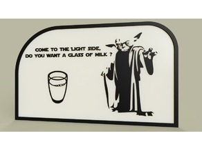 StarWars - YODA - come to the light side, do you want a glass of milk