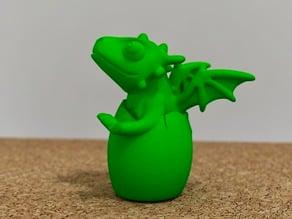 cute dragon hatching