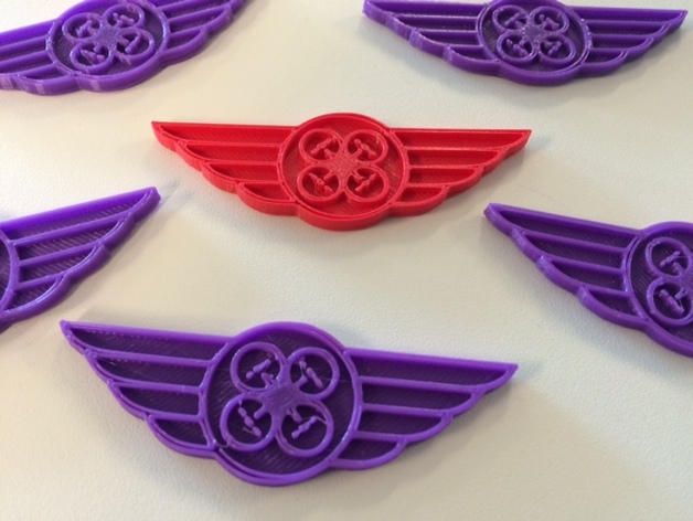 Drone Pilot Wings by GlynnLo - Thingiverse