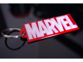 MARVEL 2 COLOR KEYCHAIN