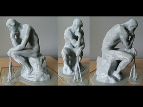 Rodin's The Thinker (With Supports)