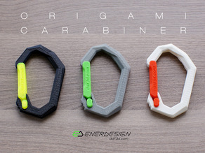 Origami Carabiner by ddf3d.com