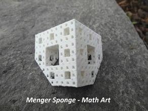 Menger sponge customizable
