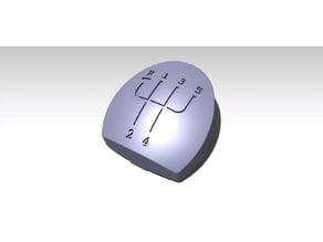 Pommeau de levier de vitesse Clio 2.2 + sérigraphies