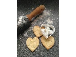 Cookie Cutter Blanc & Monogramm for Wedding