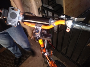 Electric scooter volt meter mount