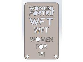 Women for Tri, TRI-Tat, WFT, Marker Stencil