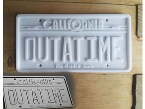 Back to the Future 'OUTATIME' Licence Plate