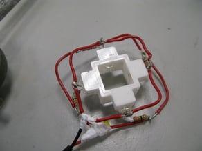 UV/vis/fluorimeter cuvette holder with 4 LED slots for irradiation