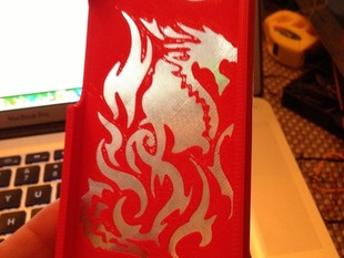 Dragon iPhone5 Case (with solid bottom for printing in clear / dual color)