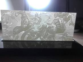 Lithophane Marvel CivilWar