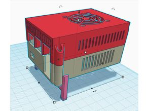 PI case (room available for X850 Msata and Pi hat)