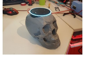 skull echo dot holder alexa