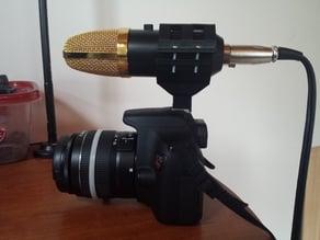 Canon DSLR custom USB mic holder