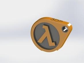 Half Life Keychain