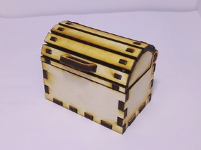 Small treasure chest - lasercut