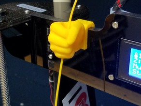 Hand filament guide
