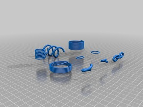 OpenSCAD library - Springs, helicoils, elliptic rings