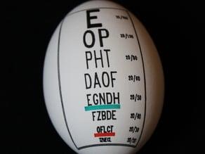 Eye Chart Egg for Egg-Bot