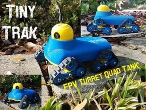 Tiny Turret Quad Track - Tiny Servo Driven FPV RC Tank - Tiny Trak