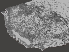 Continental United States Topography