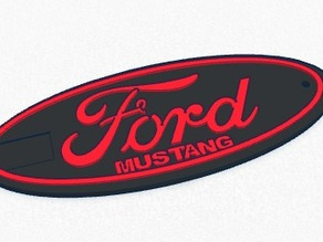 Ford Mustang Keychain