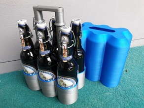 6 Pack Beer Carrier for 0.5 L Bottles - Bier Flaschenträger