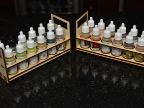 Laser Cut Paint Tray (Vallejo or Army Painter size)