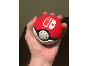 Functional Pokéball - Nintendo Switch Game Cartridge Case