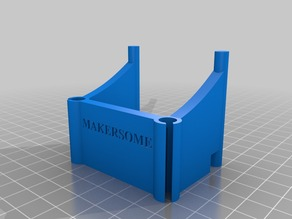 Slotted Filament Tube Holder for Flashforge Creator Pro
