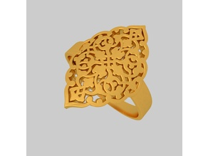 Filigree Fancy Ring KTRF01 3D STL