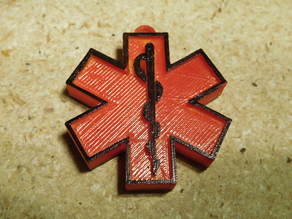 EMT | First Aid | Diabetes | Medical | Star Of Life Keychain Tag