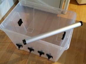 IKEA SAMLA filament dry box with aluminum tube 25mm