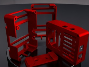 [RaspRail] - Wallmounted / Portable Raspberry Pi Rail Case (Model B both rev 1 and rev 2)