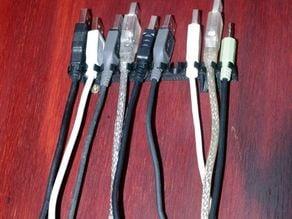 Parametric USB Cable Hanger
